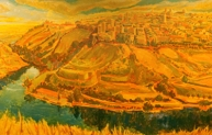 Remembering Toledo, oil on panel, 30 x 80 inches, 2006